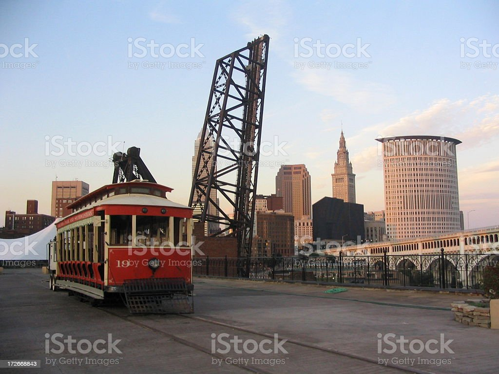 Cleveland Trolley stock photo