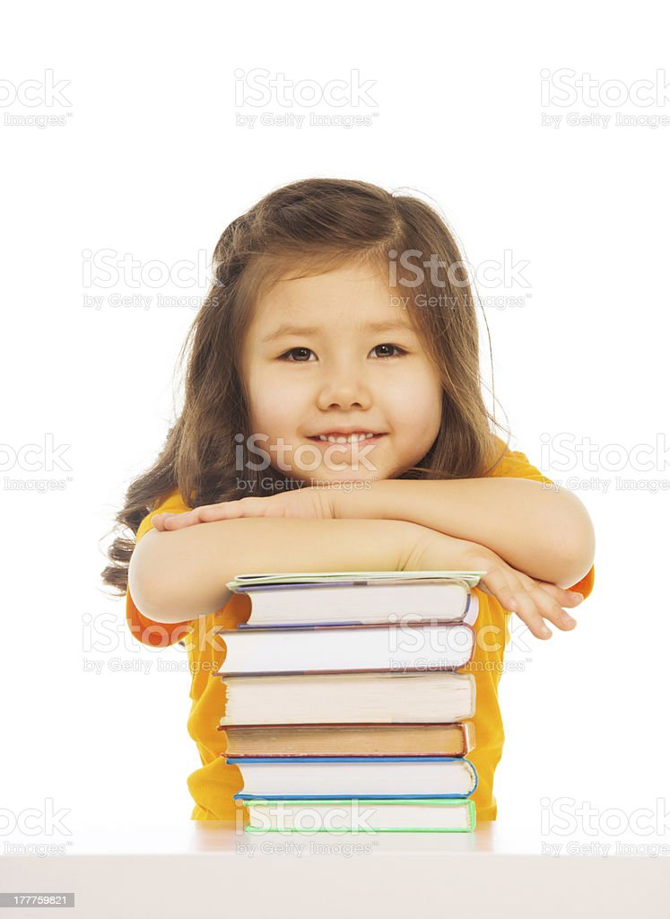 Clever Asian girl royalty-free stock photo