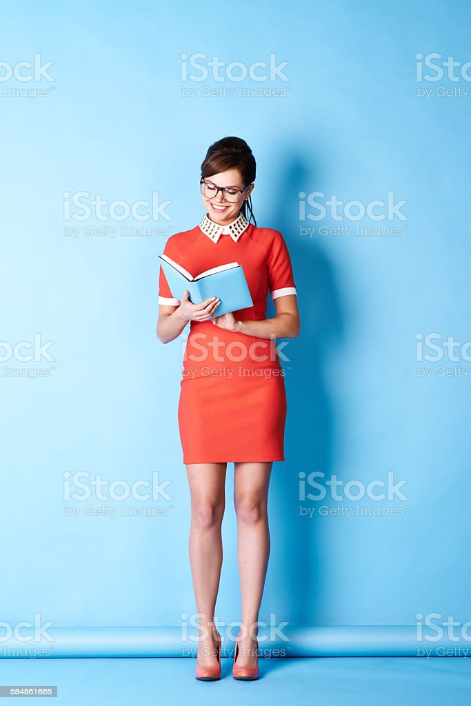 Clever girl stock photo