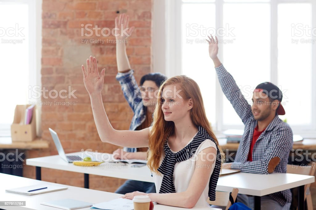 Clever learners stock photo