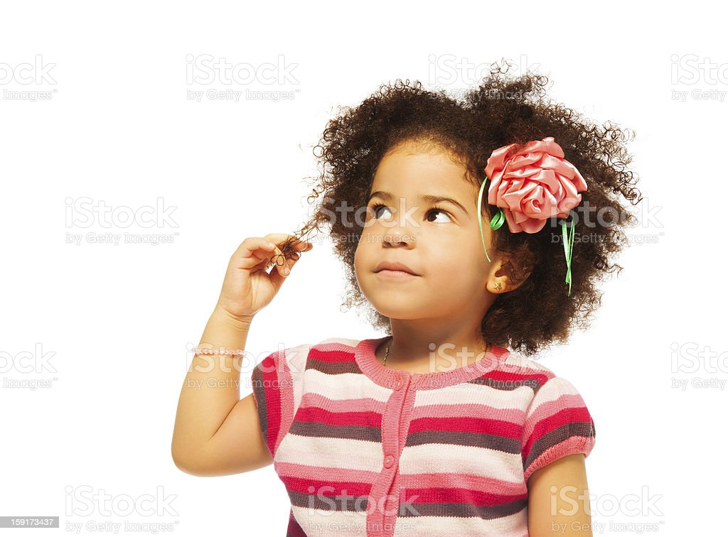 Clever little black girl royalty-free stock photo