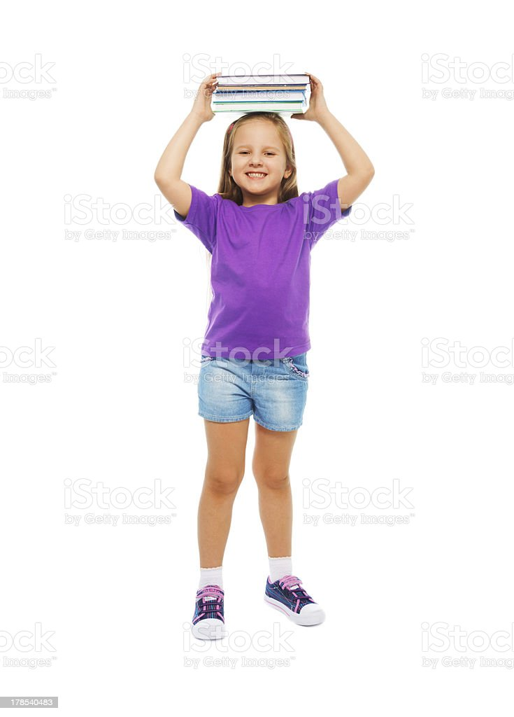 Clever little girl royalty-free stock photo