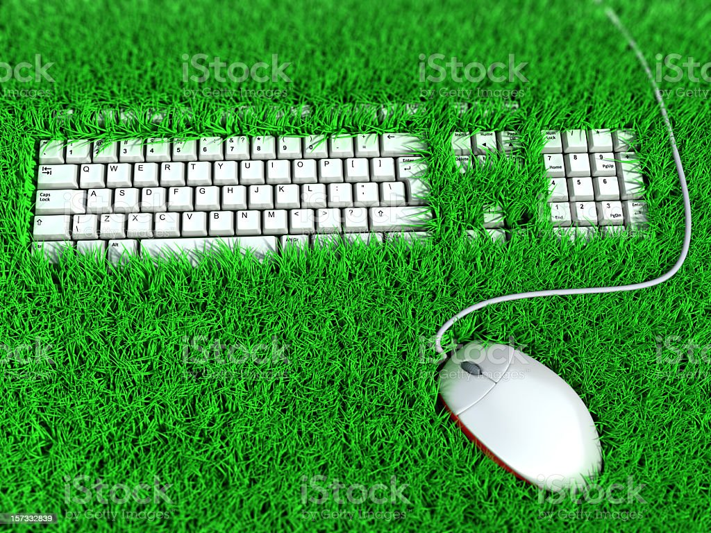 A clever picture of an ergonomic keyboard  stock photo