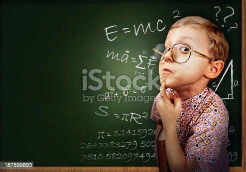 641236862 istock photo Clever pupil boy portrait 187899893