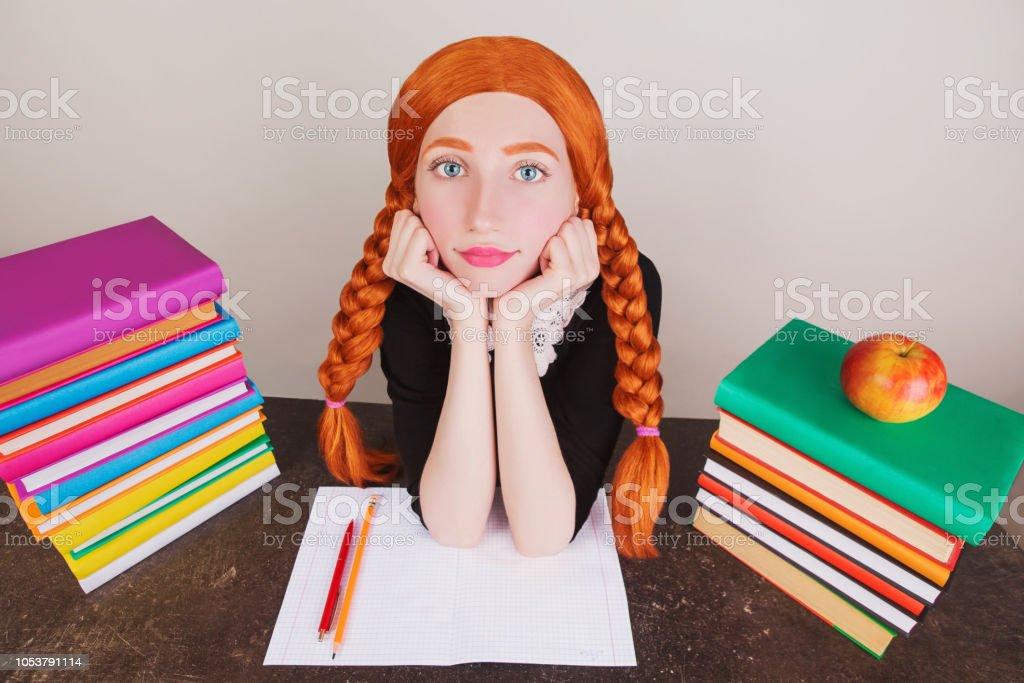 College girl redhead