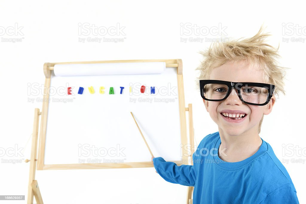 clever schoolboy royalty-free stock photo