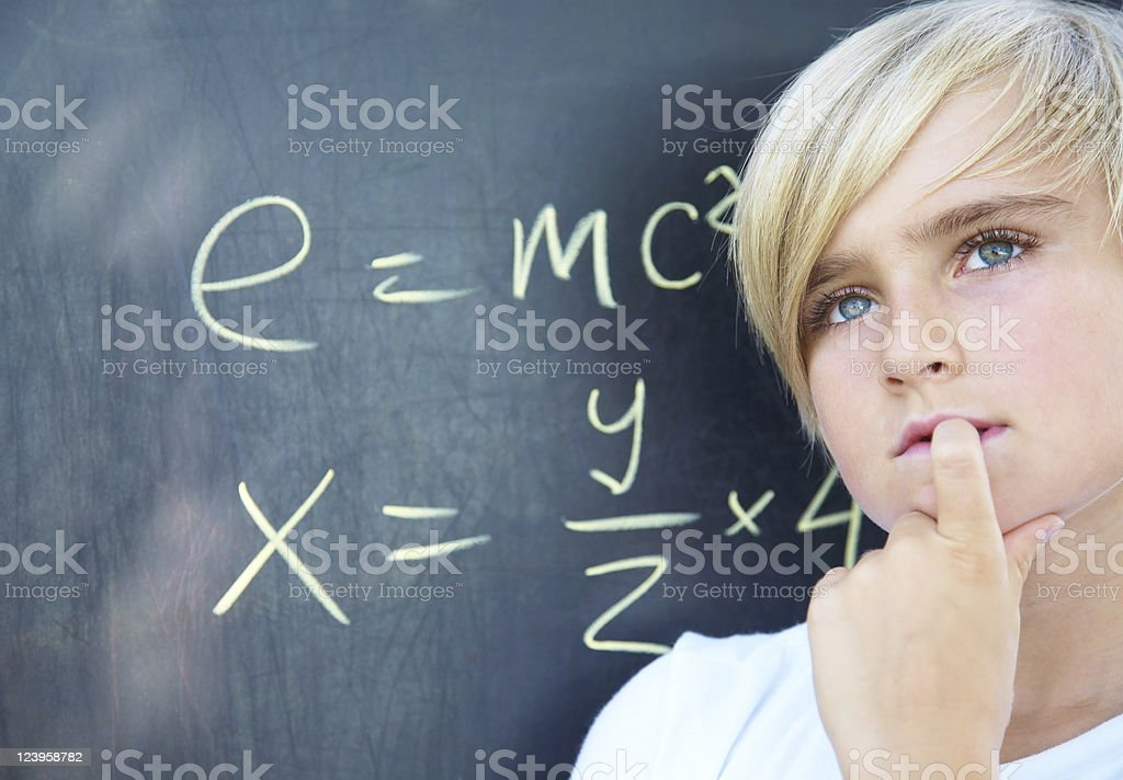clever student royalty-free stock photo