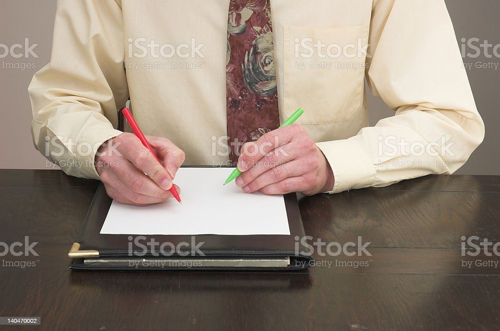 Clever writing stock photo