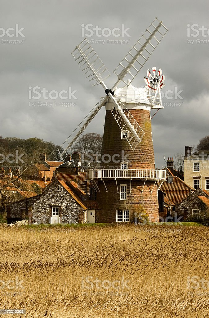 Cley windmill royalty-free stock photo