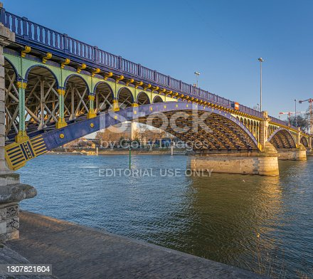 istock Clichy, France: Detail of the Gennevilliers Bridge 1307821604