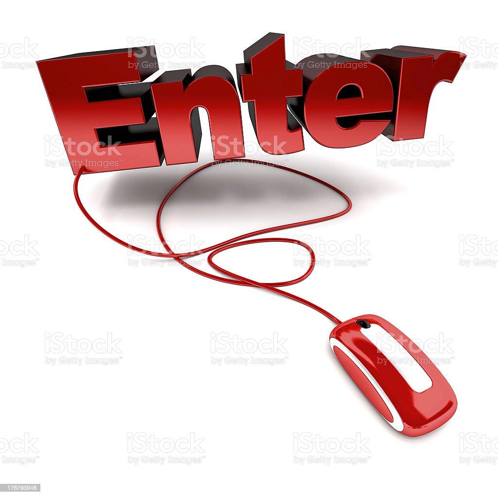 Click enter royalty-free stock photo