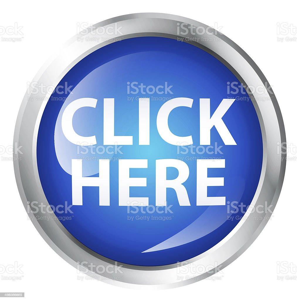 Click here icon stock photo