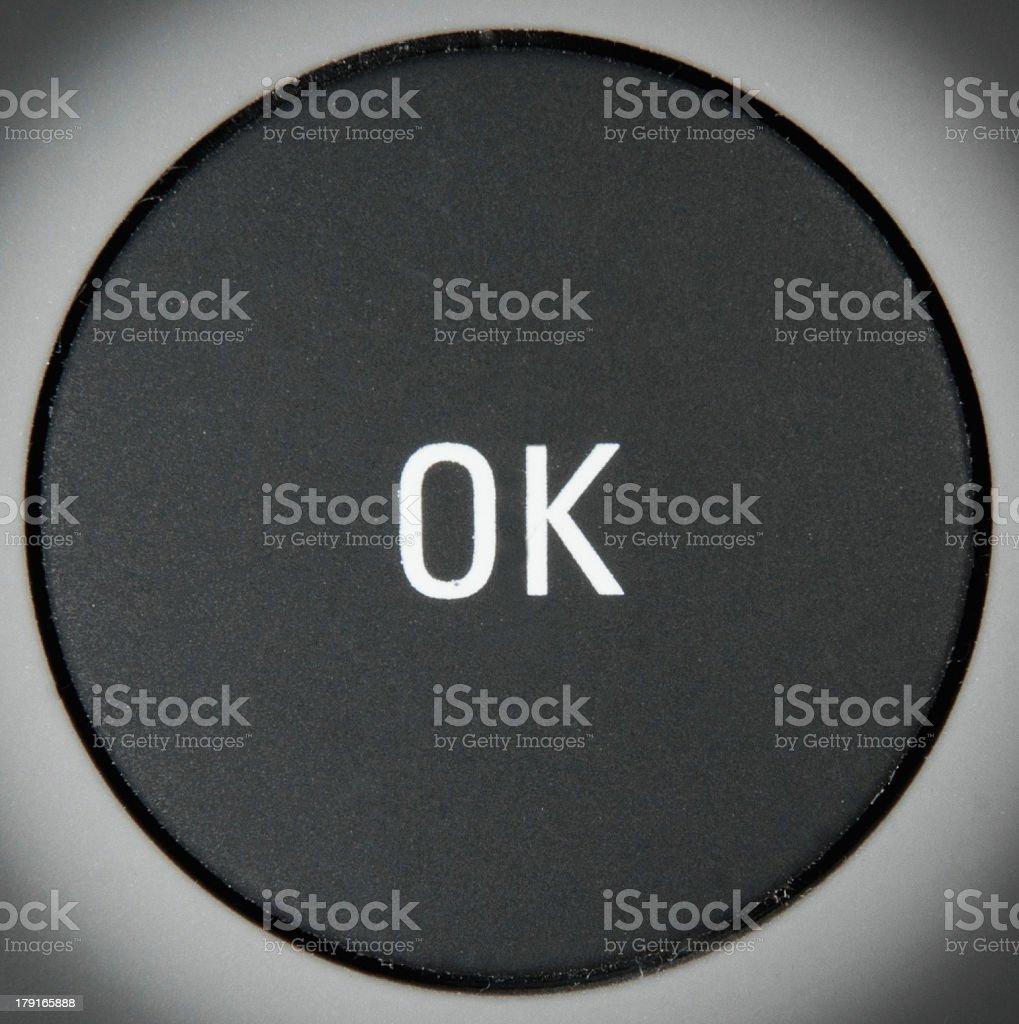 Click OK stock photo