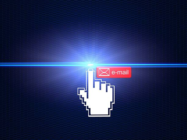 Click & send Email stock photo
