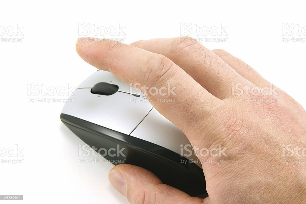 Click the mouse royalty-free stock photo