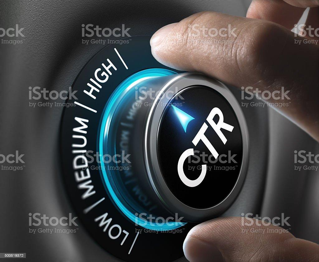 Click through rate, CTR stock photo