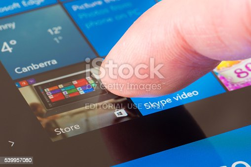 istock Clicking the Windows Store icon 539957080