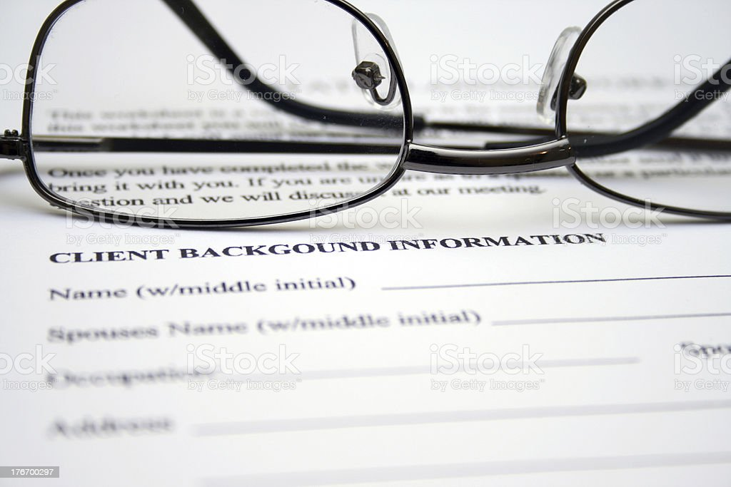 Client background information royalty-free stock photo