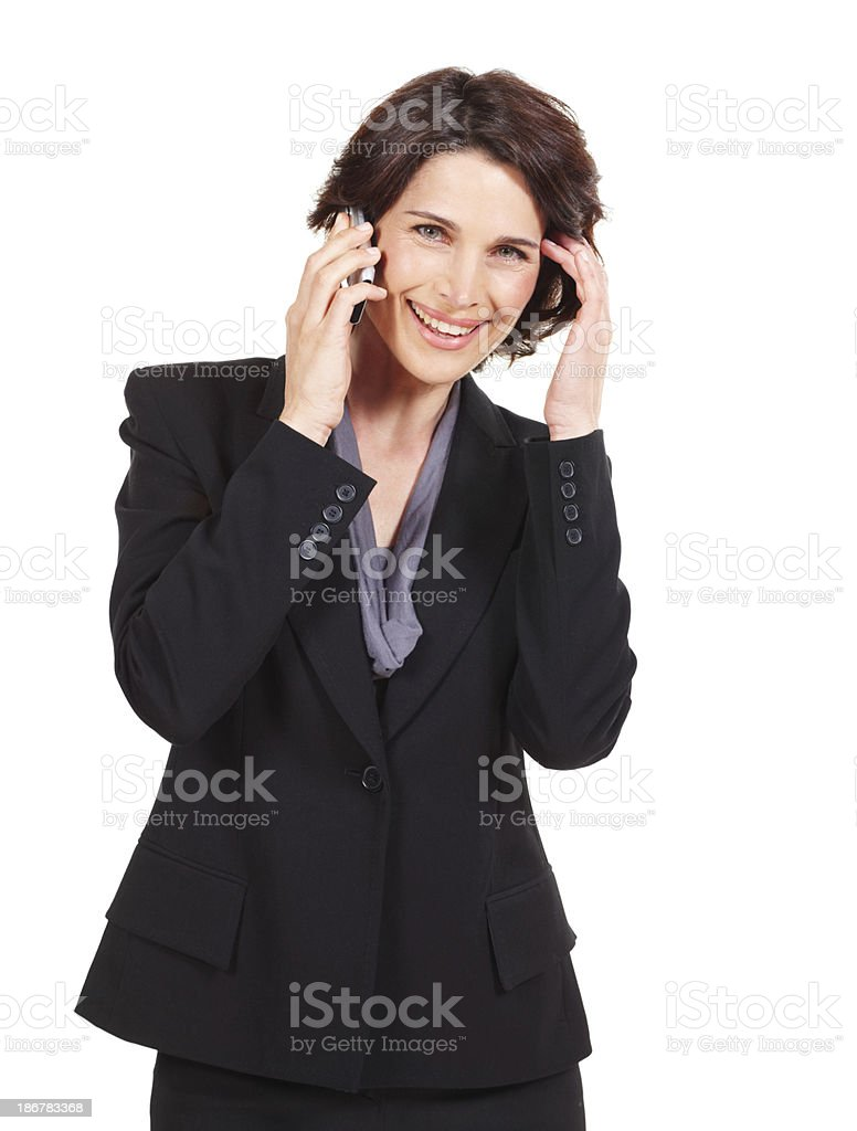 Client calling royalty-free stock photo