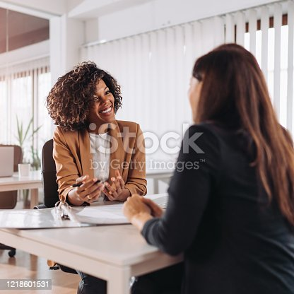 istock Client consulting with a agent 1218601531