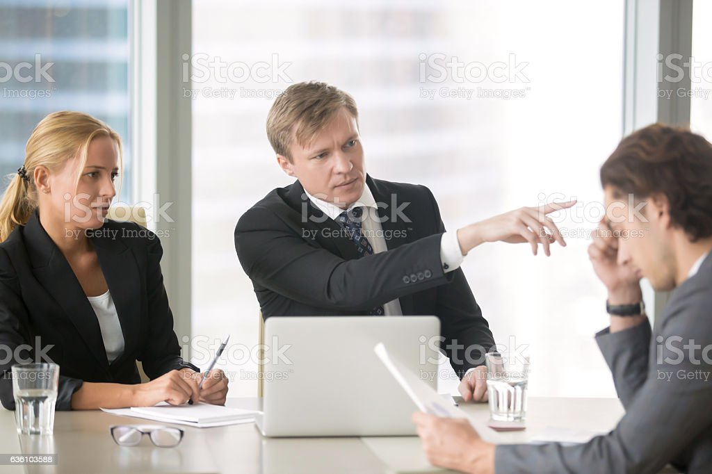 Client firing incompetent contractor stock photo