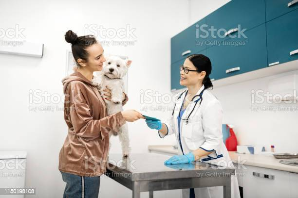 Client holding dog taking the medical record of dog from vet picture id1150198108?b=1&k=6&m=1150198108&s=612x612&h=n7awpil9d3 ljku4 b0d1royfkssnfg46g6xibwgqau=