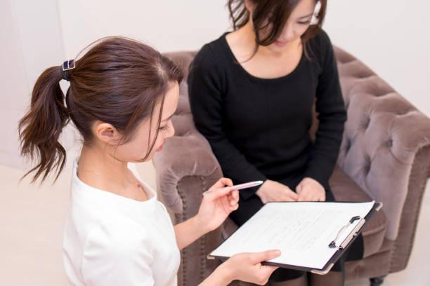 Interview de récepteur client de thérapeute - Photo