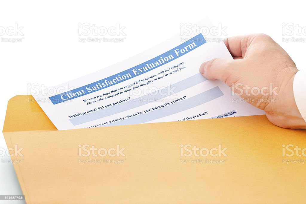 Client satisfaction evaluation form royalty-free stock photo