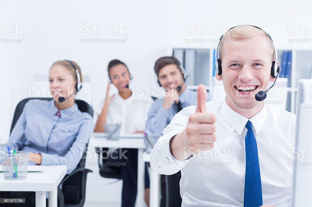 Client service worker photo libre de droits