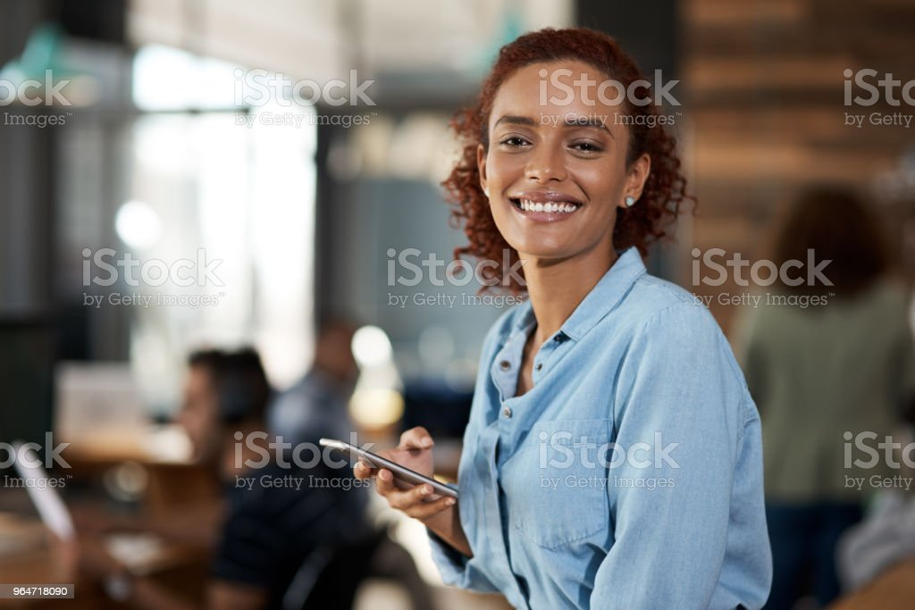 Clients appreciate the connection I keep with them royalty-free stock photo