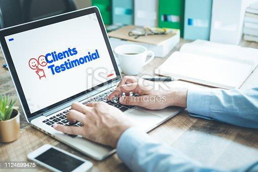 istock Clients Testimonial Concept 1124699475