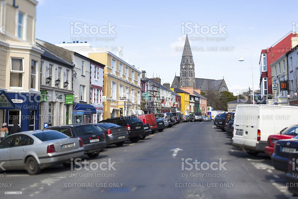 Clifden Town in Ireland stock photo