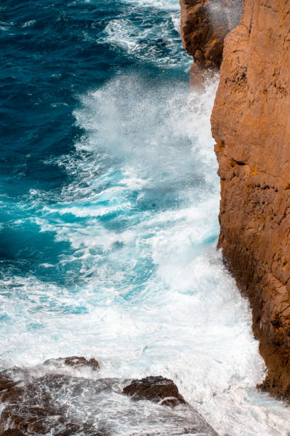 Cliff at Cabo de Sao Vicente near Sagres Algarve, Portugal wasser photos stock pictures, royalty-free photos & images