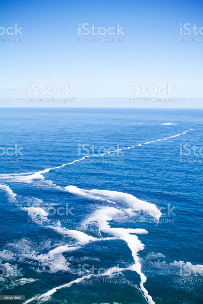A Cliff at Cape of Hope in South Africa where two oceans meet. stock photo