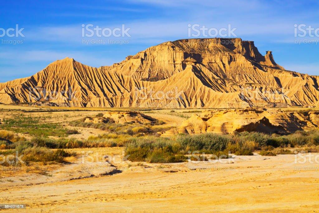 cliff at  desert landscape of Navarra stock photo