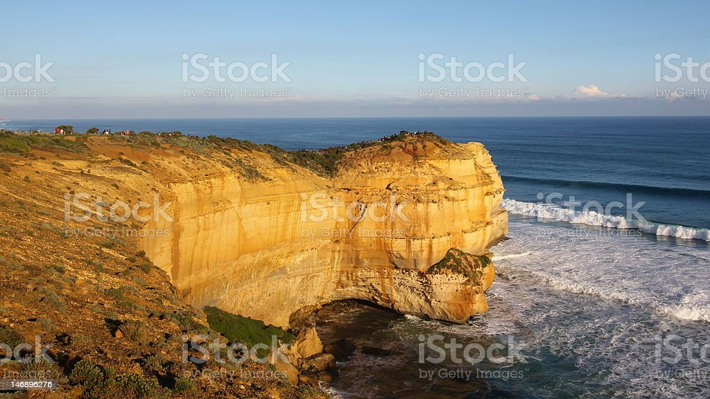 Cliff at Great Ocean Road royalty-free stock photo