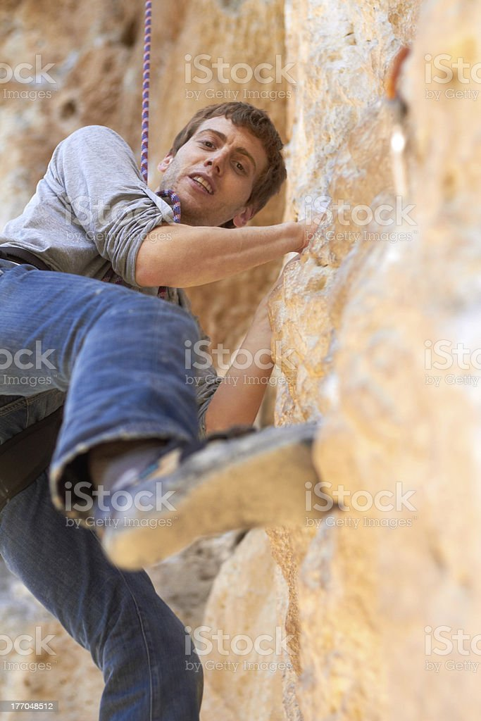 Cliff climber royalty-free stock photo
