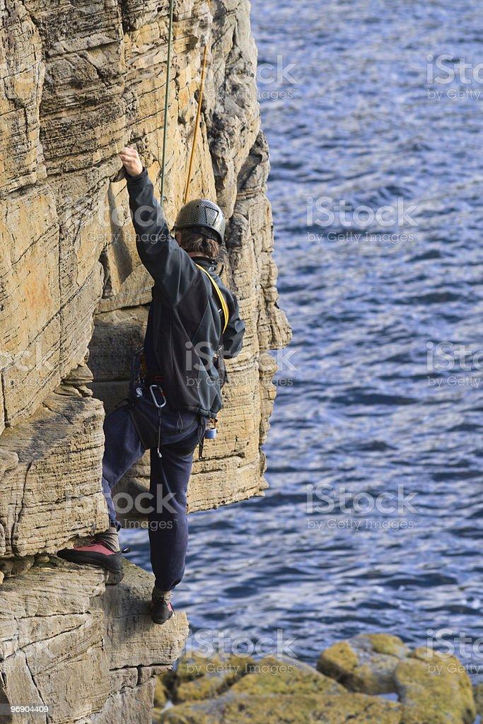 cliff climber royalty-free stock photo