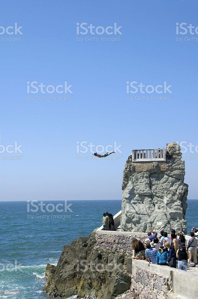 Cliff Diver - Mazatlan Mexico stock photo