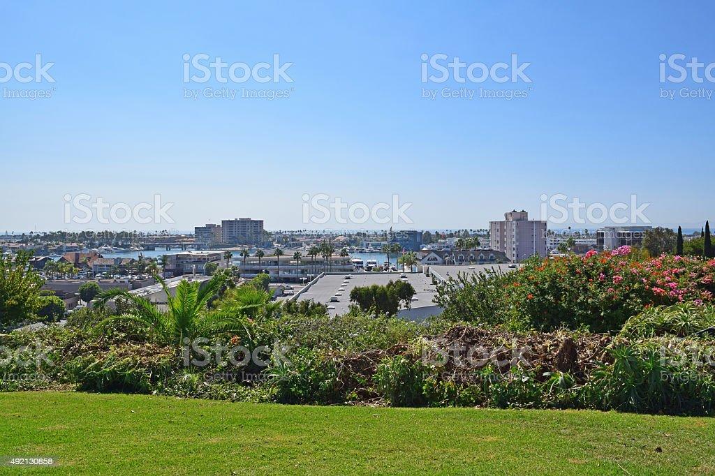 Cliff Dr Park, Newport Beach, California stock photo