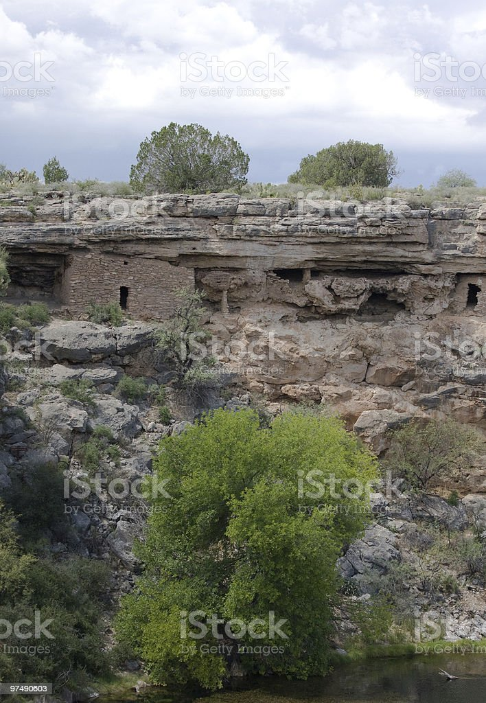 Cliff Dwelling Ruins at Montezuma Well royalty-free stock photo