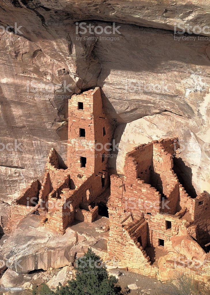 Cliff Dwellings at Mesa Verde stock photo