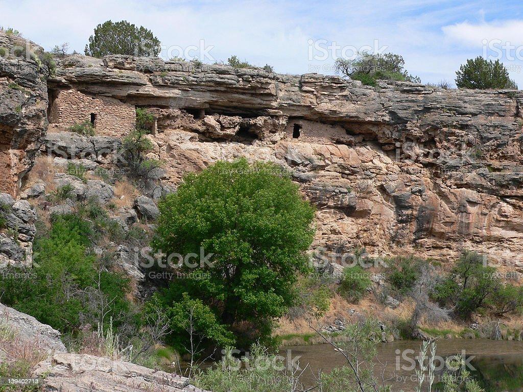 Cliff Dwellings, Montezuma Well stock photo
