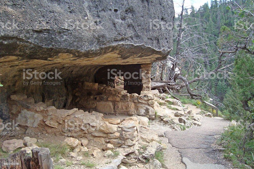 Cliff Dwellings stock photo