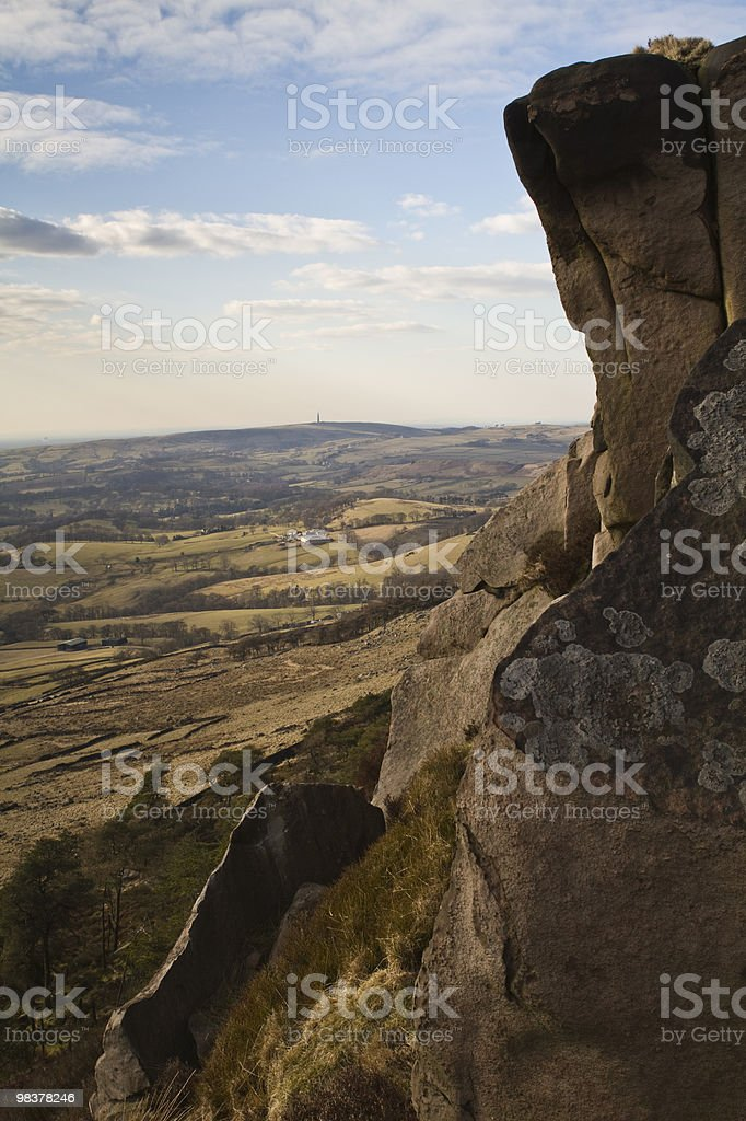 Cliff edge on a sunny day royalty-free stock photo