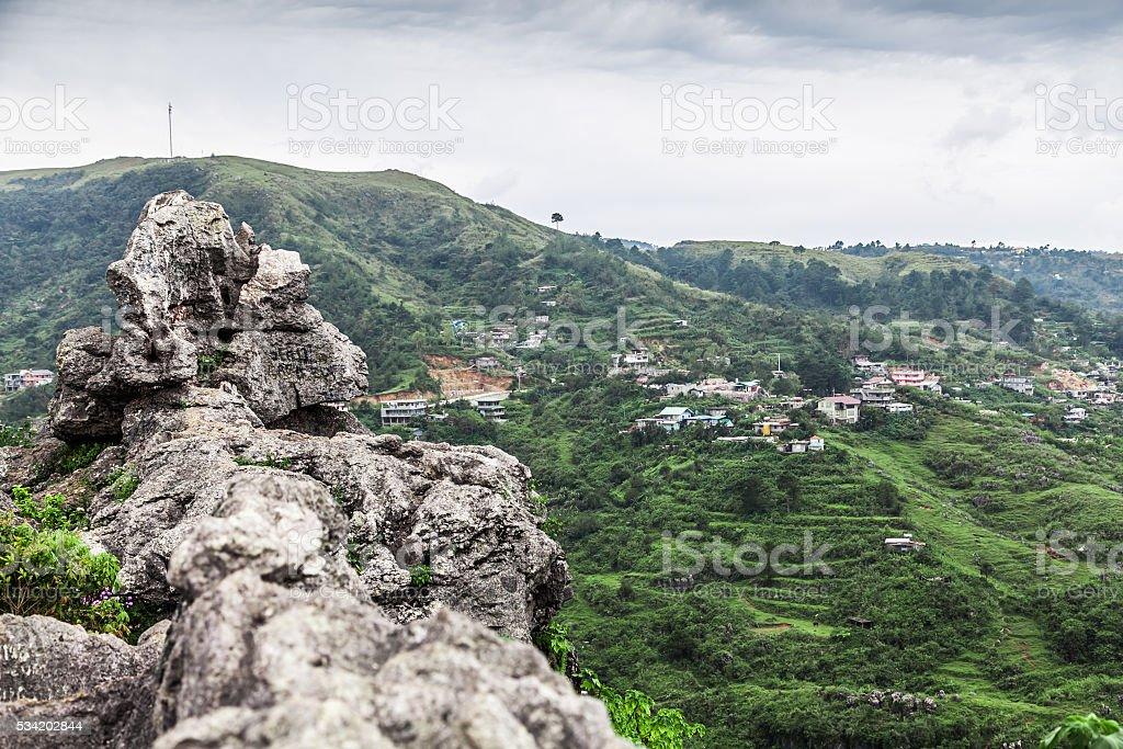 Cliff edge stock photo