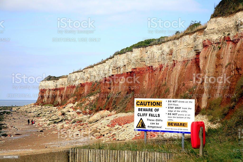 Cliff erosion. stock photo
