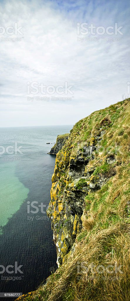 Cliff face on the Coast of Antrim, Northern Ireland royalty-free stock photo