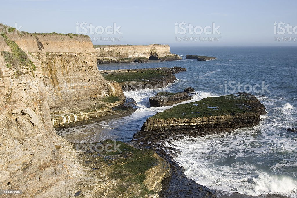 Cliff Face Over the Pacific Ocean royalty-free stock photo
