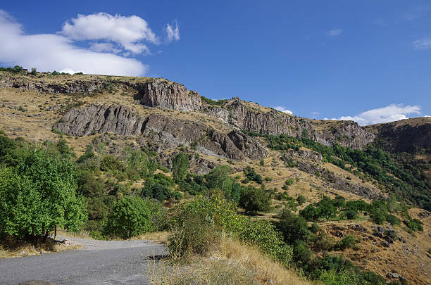 Cliff in river Arpa gorge. Road to Jermuk. Armenia Cliff in river Arpa gorge. Road to Jermuk. Armenia ARPA stock pictures, royalty-free photos & images